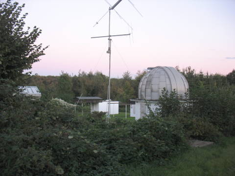 L'observatoire d'Essen-Schuir au coucher du soleil